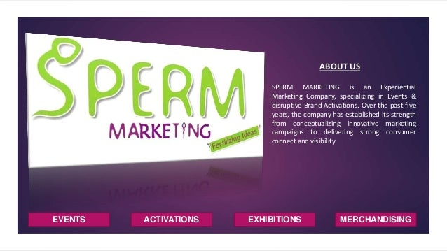 EVENTS ACTIVATIONS EXHIBITIONS ABOUT US SPERM MARKETING is an Experiential Marketing Company, specializing in Events & dis...