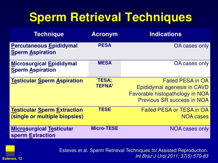 Sperm retrevial after prostatectomy