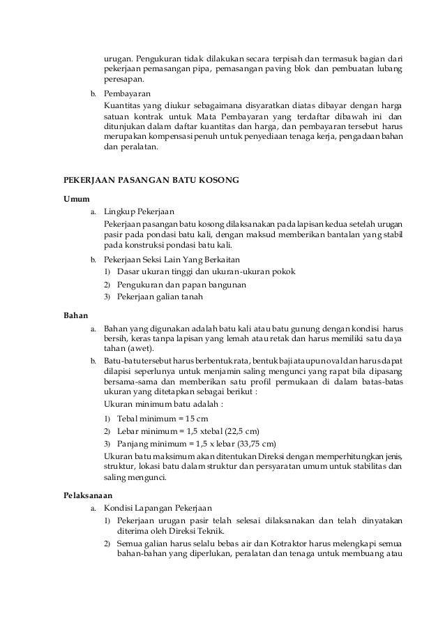 Spesifikasi Teknis Rujab