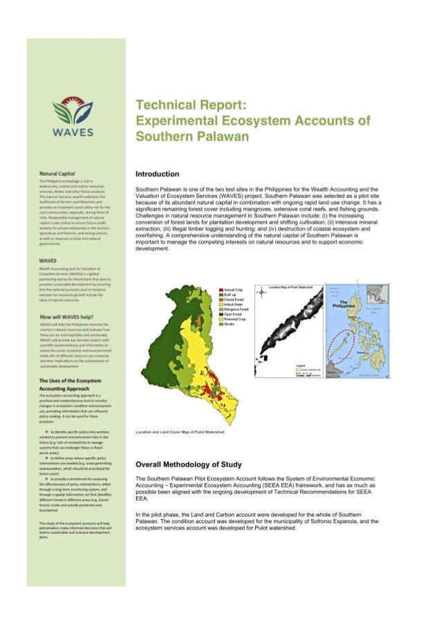 Southern Palawan Ecosystem Accounts Slide 3