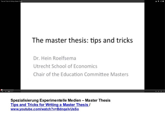 Master thesis strategy
