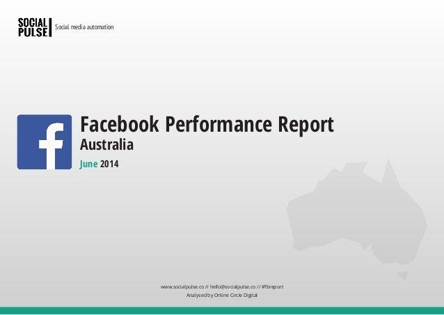 www.socialpulse.co // hello@socialpulse.co // #fbreport Analysed by Online Circle Digital Social media automation June 201...