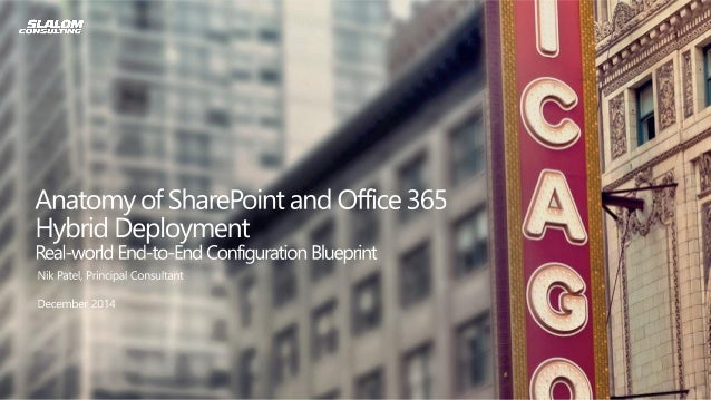 About Me  •Principal Consultant, Slalom Consulting, Chicago  •Current focus area SharePoint 2013 and Office 365  Contact I...