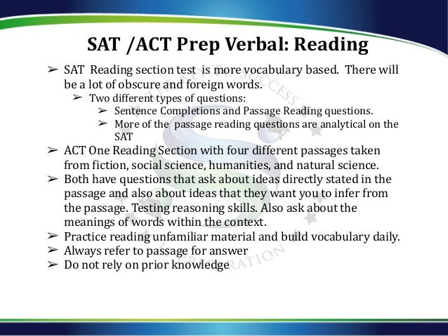 thea sat act differences Is the act or sat right for your teen key differences between the act and sat the two tests are similar in many ways: both are reading-intensive.
