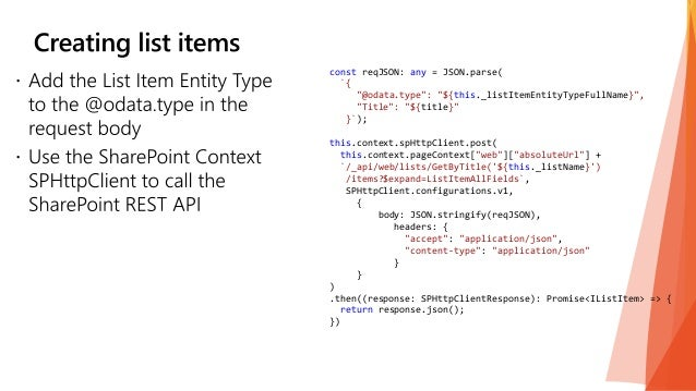 SPFx: Working with SharePoint Content