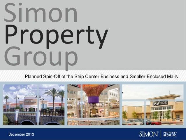December 2013 SIGHT2013Investor MaterialsAnnouncement IPProject Vinyl announcement IP_20131212_FINAL.ppt Simon Property Gr...