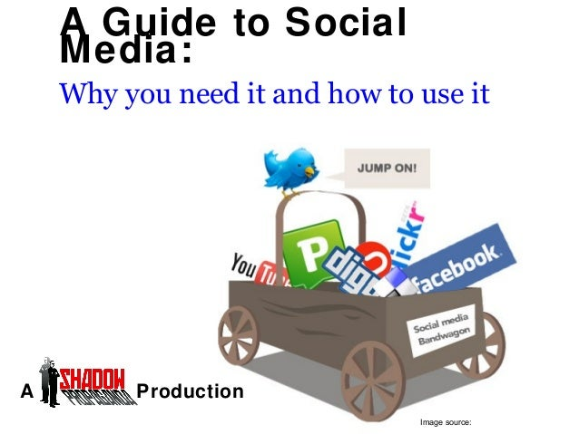 A Guide to Social Media: Why you need it and how to use it  A  Production Image source:
