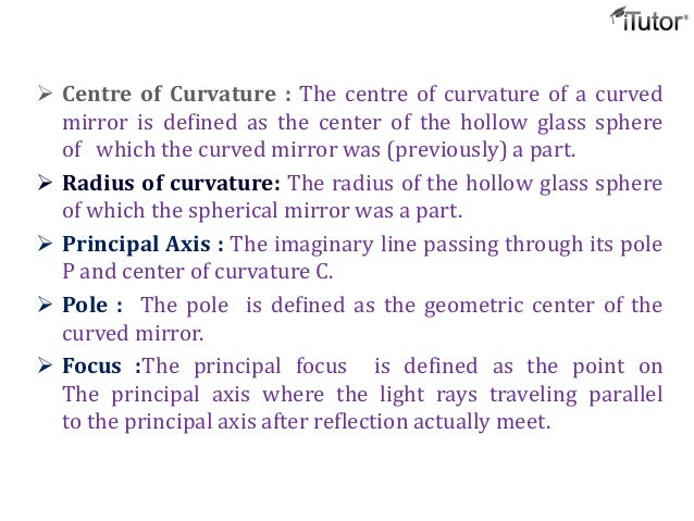 Spherical mirrors for Mirror definition