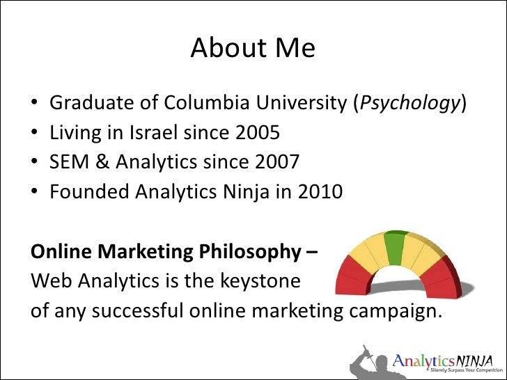 Analytics Conversion Tracking & Segmentation Slide 2