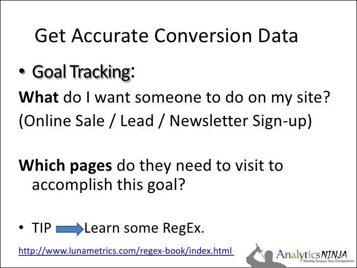 Analytics Conversion Tracking & Segmentation Slide 3