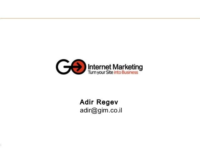 Adir Regev adir@gim.co.il