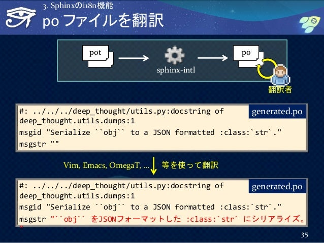 """po ファイルを翻訳 #: ../../../deep_thought/utils.py:docstring of deep_thought.utils.dumps:1 msgid """"Serialize ``obj`` to a JSON fo..."""