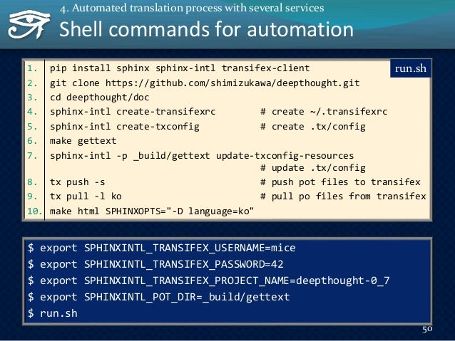 The drone.io 51 WebHook Deploy Clone repository Run shell script The drone.io is a continuous integration service. 4. Auto...