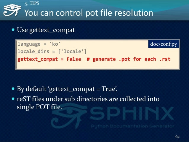 """Translatable sphinx html templete  Sphinx HTML template is Jinja2.  You can use """"{% trans %}"""" template tag.  """"make gett..."""