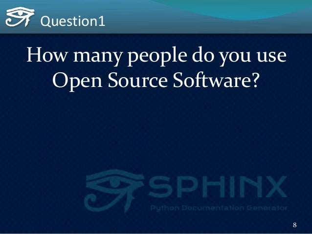 Question2 How many people may have contributed to the OSS? 9