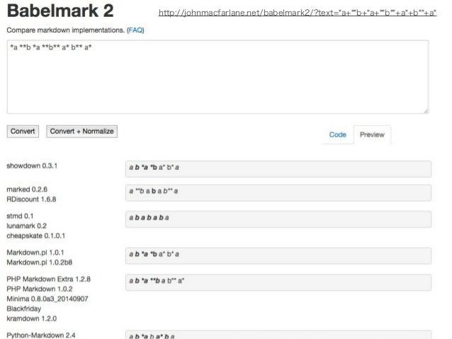 大文字DIVの挙動  <DIV>  hi  </DIV>  Markdown.plやPHP Markdown Extra  ではなぜか<p><div>hi</div></p>  となる。Pandoc、RedCarpet、Python-  Mar...