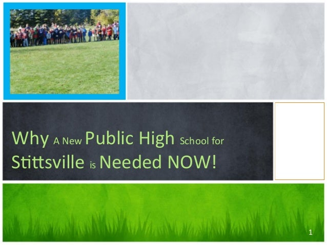 Why	   A	   New	   Public	   High	   School	   for	    S56sville	   is	   Needed	   NOW! 1