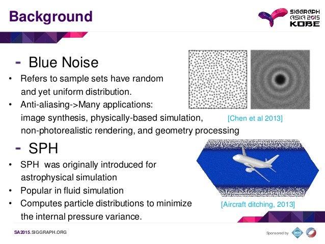Blue Noise Sampling using an SPH-based Method