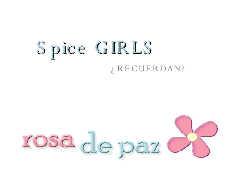 Spice GIRLS ¿RECUERDAN?