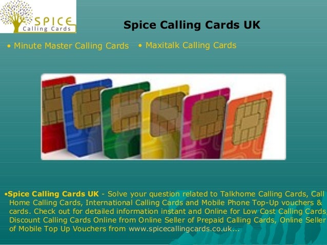Spice Calling Cards UK