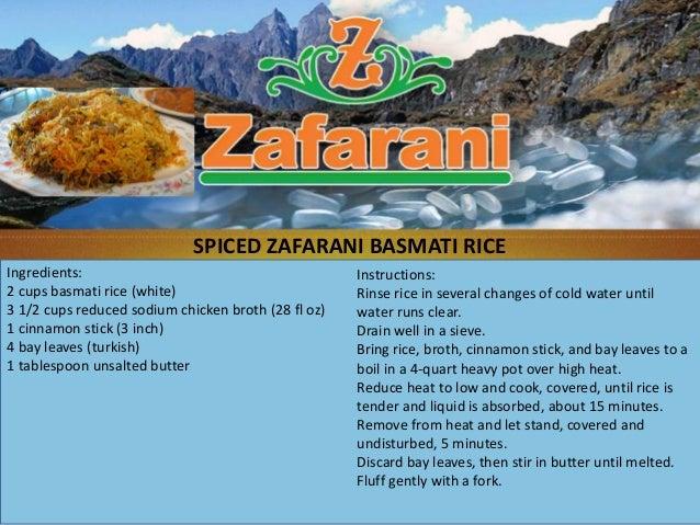 Spiced zafarani basmati rice