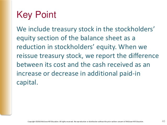 the stockholders' equity section of a corporation's balance sheet reports