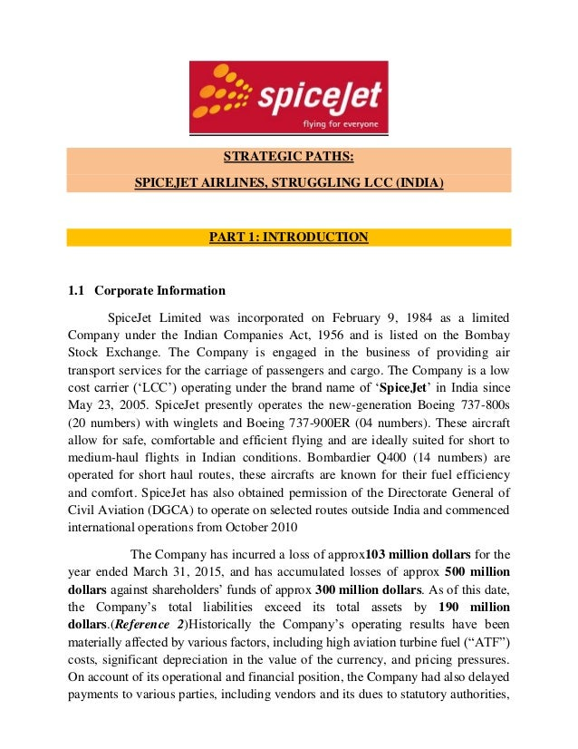 strategic paths  spicejet airlines  struggling lcc  india