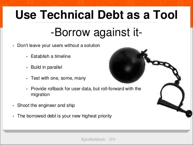 how to avoid technical debt without overplanning
