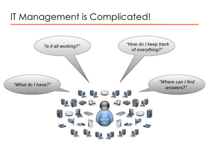 """IT Management is Complicated! """" Is it all working?""""  """" How do I keep track of everything?""""  """" What do I have?""""  """" Where ca..."""