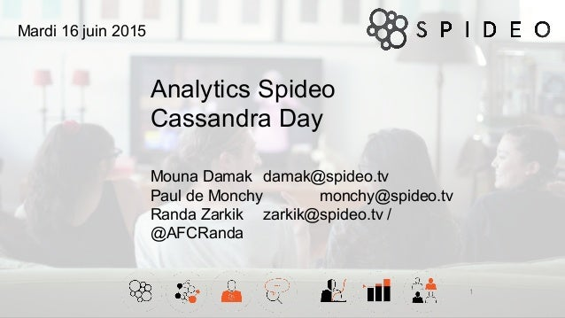 Analytics Spideo Cassandra Day 1 Mouna Damak damak@spideo.tv Paul de Monchy monchy@spideo.tv Randa Zarkik zarkik@spideo.tv...