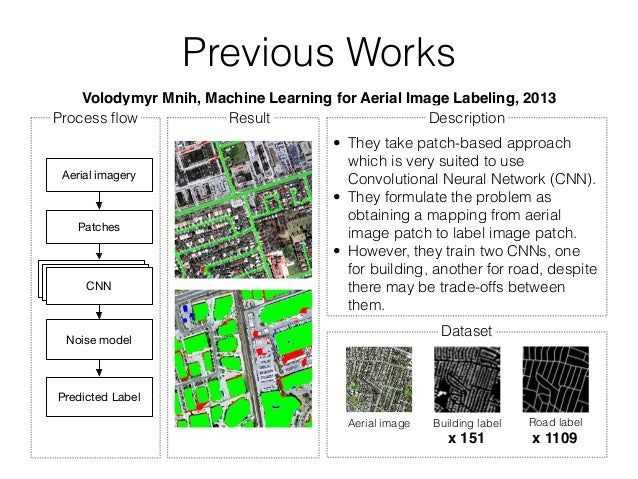 Building and road detection from large aerial imagery