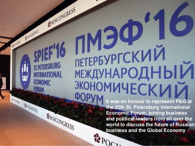 Gary Coombe, President, Europe - Procter & Gamble at SPIEF Slide 3