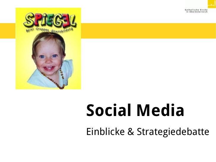 Social MediaEinblicke & Strategiedebatte