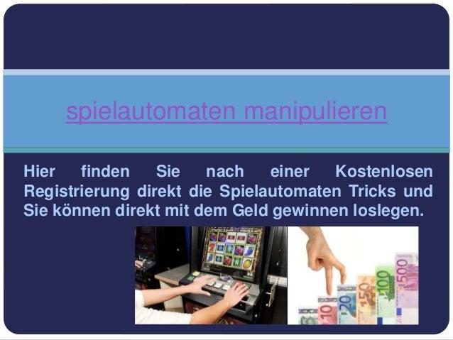 Hier finden Sie nach einer Kostenlosen Registrierung direkt die Spielautomaten Tricks und Sie können direkt mit dem Geld g...