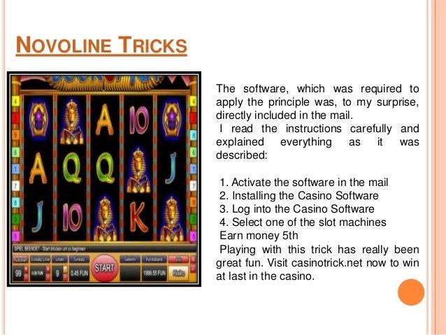 casino novoline tricks