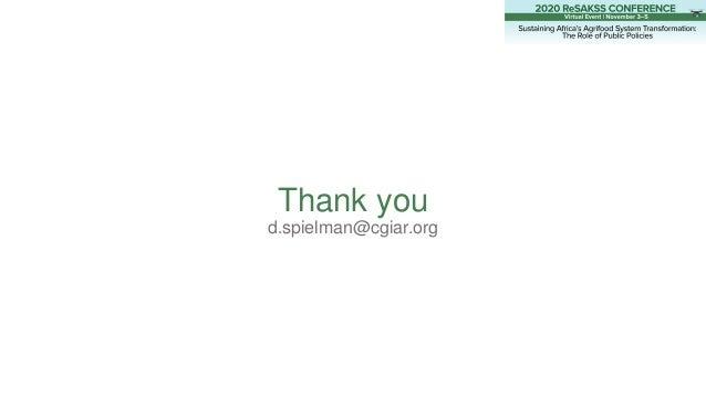 Thank you d.spielman@cgiar.org