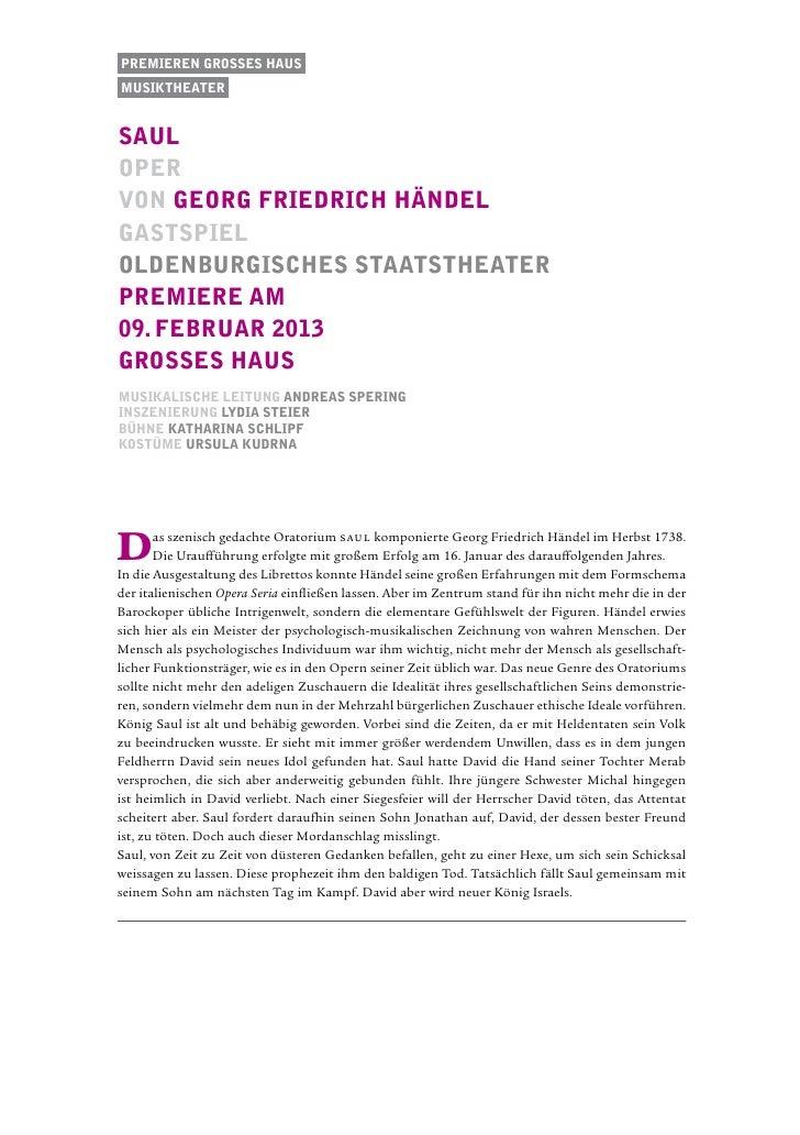 Premieren Grosses Hausmusiktheatersaulopervon Georg Friedrich Händelgastspieloldenburgisches staatstheaterPremiere am09. f...