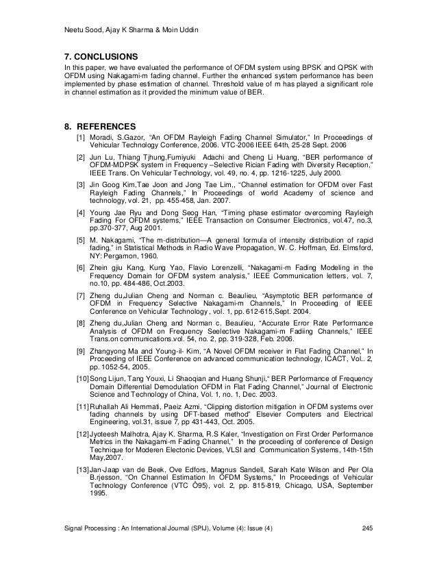 Neetu Sood, Ajay K Sharma & Moin Uddin Signal Processing : An International Journal (SPIJ), Volume (4): Issue (4) 245 7. C...