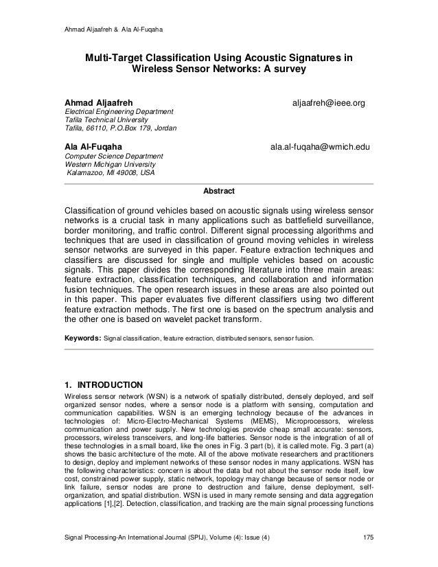 Ahmad Aljaafreh & Ala Al-Fuqaha Signal Processing-An International Journal (SPIJ), Volume (4): Issue (4) 175 Multi-Target ...
