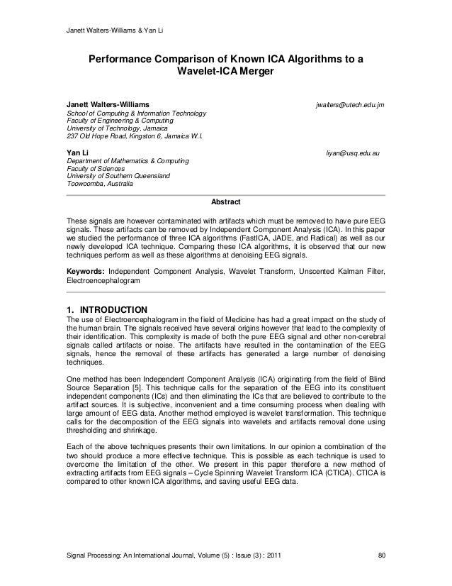 Janett Walters-Williams & Yan Li Signal Processing: An International Journal, Volume (5) : Issue (3) : 2011 80 Performance...