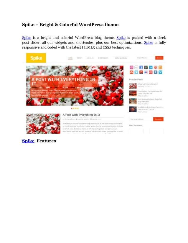 Spike   bright & colorful wordpress theme