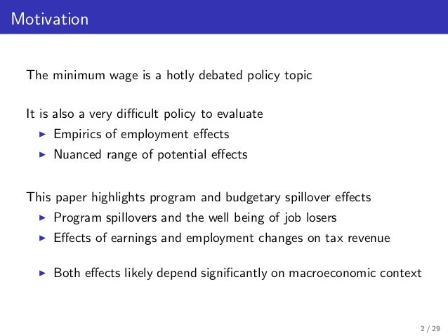 An analysis of the topic of the surveying on minimum wage job