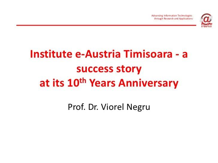 AdvancingInformationTechnologies                                  throughResearchandApplicationsInstitutee‐Austria...