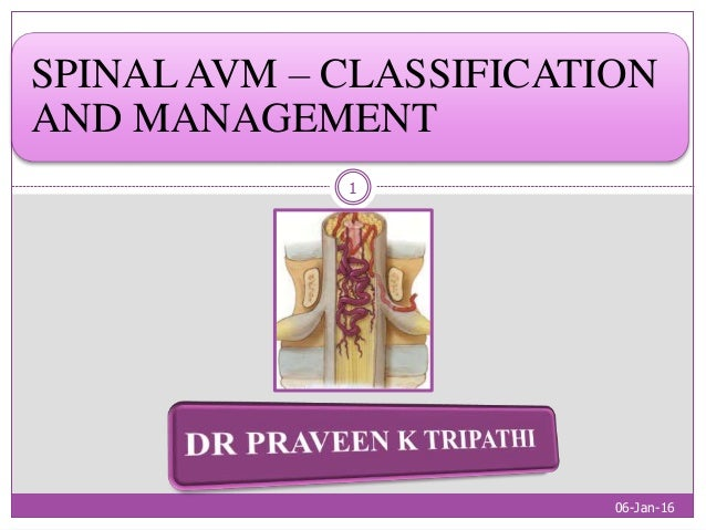 SPINAL AVM – CLASSIFICATION AND MANAGEMENT 06-Jan-16 1