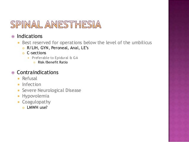 Spinal Anaesthesia Pdf