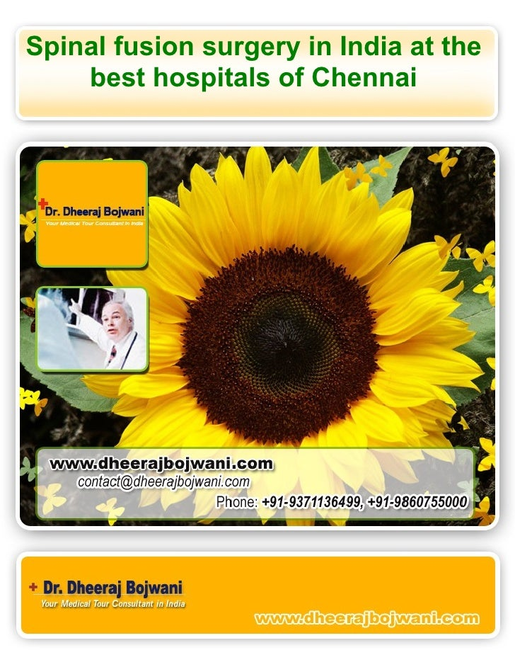 Spinal fusion surgery in India at the     best hospitals of Chennai