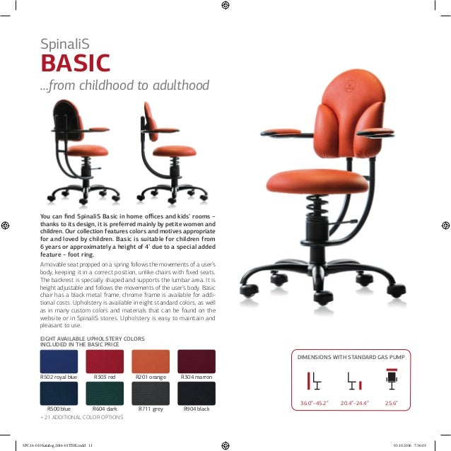 ... 11.  sc 1 st  SlideShare & SPINALIS CANADA Healthy Chairs for Active Sitting Catalogue