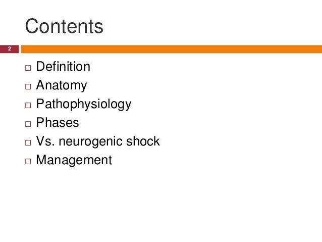 Spinal shock Slide 2