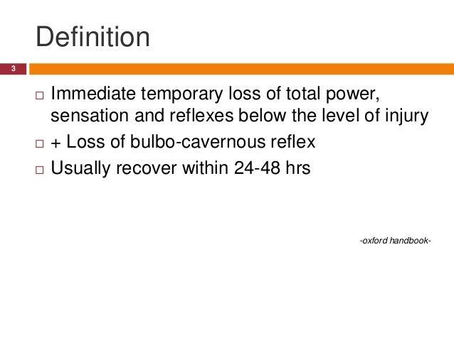 Spinal shock Slide 3