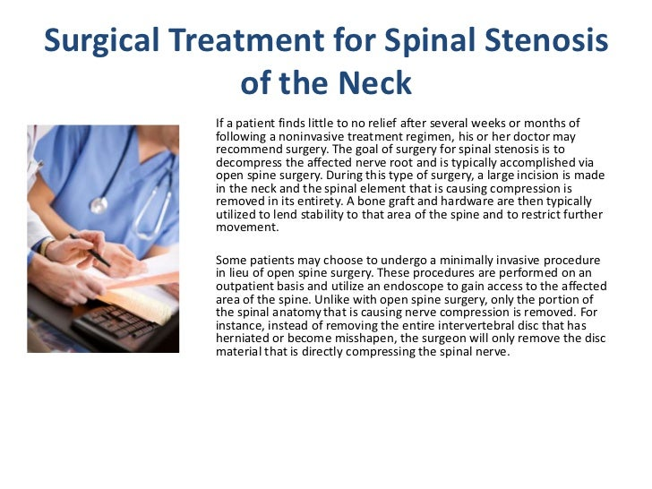 Spinal Stenosis Of The Neck